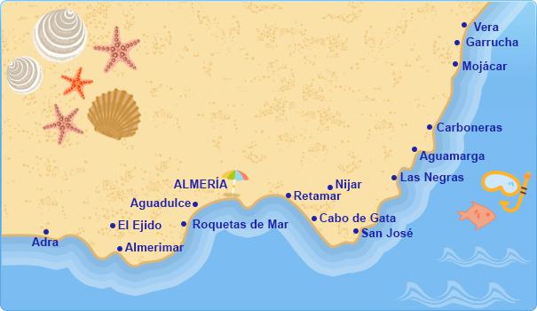 Costas de espa a thinglink - Costa sol almeria ...