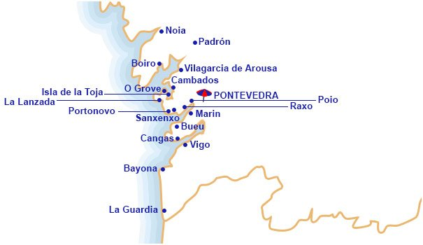 Mapa De Rias Bajas.Hoteles En Rias Bajas Centraldereservas Com