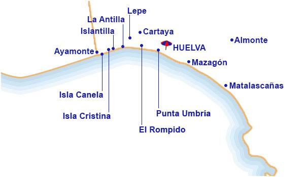 Mapa De Huelva Costa.Hoteles En Costa De Huelva Centraldereservas Com
